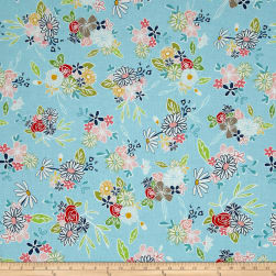 Riley Blake Daisy Days Main Blue Fabric