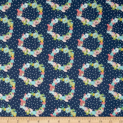 Riley Blake Daisy Days Ring-a-Rosie Navy Fabric