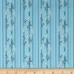 Riley Blake Daisy Days Stripe Blue Fabric
