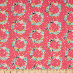 Riley Blake Daisy Days Ring-a-Rosie Pink Fabric
