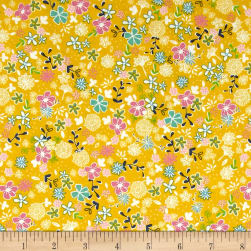 Riley Blake Daisy Days Secret Garden Yellow Fabric
