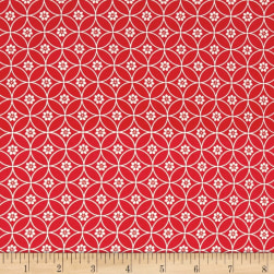 Riley Blake Daisy Days Chain Red Fabric