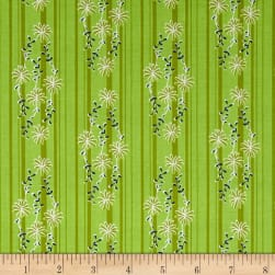 Riley Blake Daisy Days Stripe Green Fabric
