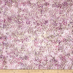 Indian Batik Dots Purple/Pink Fabric