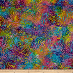 Indian Batik Puzzle Bright Multi Fabric
