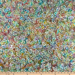 Indian Batik Butterflies Dusty Multi Fabric