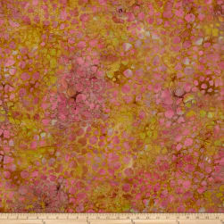 Indian Batik Dots Rose/Sand Fabric