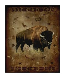 "Penny Rose Majestic Outdoors 2 Digital Bison 35"" Panel"
