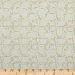 Riley Blake Bee Backgrounds Canning Jar Yellow Fabric