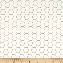 Riley Blake Bee Backgrounds Honeycomb Red Fabric
