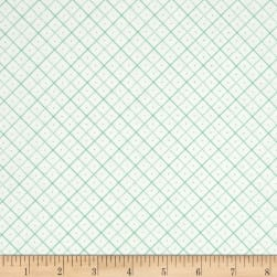 Riley Blake Bee Backgrounds Grid Teal Fabric