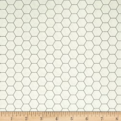 Riley Blake Bee Backgrounds Honeycomb Gray Fabric
