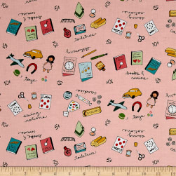 Penny Rose Five & Dime Merchandise Pink Fabric