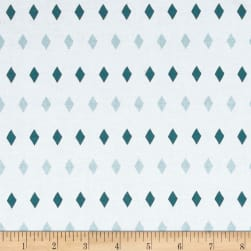 Penny Rose Five & Dine Diamonds Blue Fabric