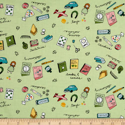 Penny Rose Five & Dine Merchandise Green Fabric