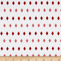 Penny Rose Five & Dine Diamonds Red Fabric