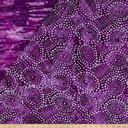 Double Face Quilted Indian Batik Abstract Dots Purple Fabric