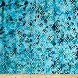 Double Face Quilted Indian Batik Diamond Ikat Teal