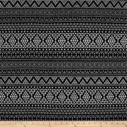 Hacci Sweater Knit Aztec Black/Grey Fabric