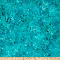 Anthology Batik Leaves Turquoise Fabric