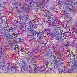 Anthology Batik Tulips Cream/Purple
