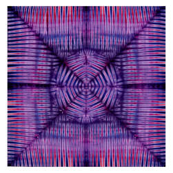 "Antholoy Batik 45"" Panel Starburst Magenta/Purple"