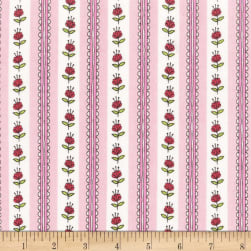 Michael Miller Let's Play Clover Blossom Pink Fabric