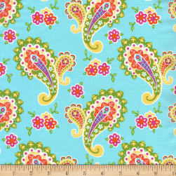 Michael Miller Flowertopia Paisley Blossom Mist Fabric