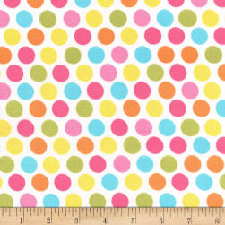 Michael Miller Flowertopia Diddly Dot Yellow Fabric