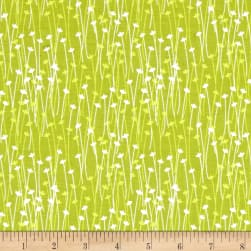 Michael Miller Doodle Daisy Spring Sprout Lime