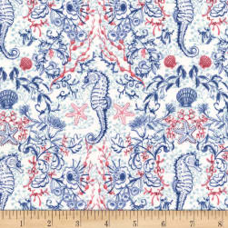 Michael Miller Sea Life Kelp Mates Navy Fabric