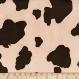 Michael Miller Minky Cow Skin Brown Fabric