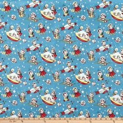 Michael Miller Minky Retro Rocket Rascals Retro Rocket