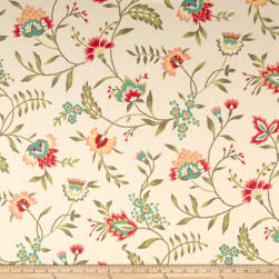 Waverly Carolina Crewel Bloom Fabric