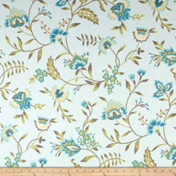 Waverly Carolina Crewel Mist Fabric