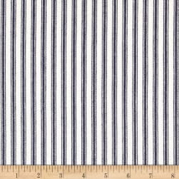 Waverly Classic Ticking Navy Fabric