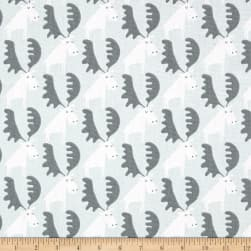 Premier Prints Moose Tracks Sundown Grey Fabric
