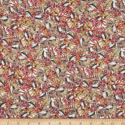 French Designer Rayon Challis Tropical Floral/ Leaves