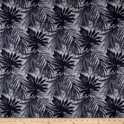 Chanel Designer Jacquard Palms Grey Fabric