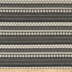 French Designer Jacquard Aztec Black/White Fabric