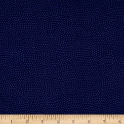 Timeless Treasures Spin Dot Navy Fabric