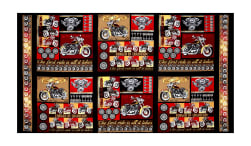 """Biker For Life Patches 24"""" Panel Multi"""