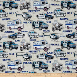 Protect & Serve Police Vehicles Gray