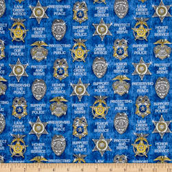Protect & Serve Shields Blue Fabric