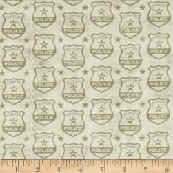 Protect & Serve Shields Tonal Natural Fabric