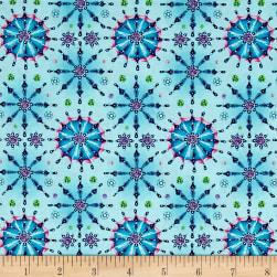 Fanfare Medallions Light Teal Fabric