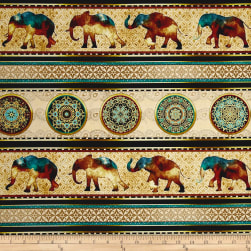 Caravan Elephant Decorative Stripe Gold