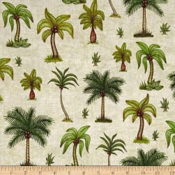 QT Fabrics Caravan Palm Trees Cream Fabric