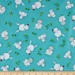 Hangin' Out Animal Toss Dark Turquoise Fabric