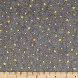 QT Fabrics Hangin' Out Stars Gray Fabric